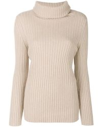 Lamberto Neck Jumper Roll Ribbed Lyst Losani wq4Cw0
