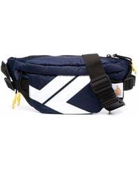 Lanvin Graphic-print Zipped Belt Bag - Blue