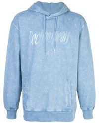 Rochambeau Yves Logo Hoodie - Blue