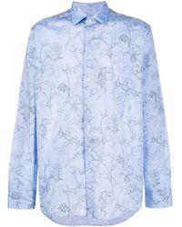 Etro Camisa con estampado floral - Azul