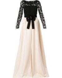 e34feff53 Gucci - Vestido de encaje con diseño de dos tonos - Lyst
