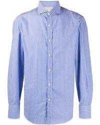 Brunello Cucinelli Рубашка В Полоску - Синий