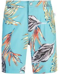 Onia Printed swimming shorts - Bleu