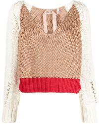 N°21 カラーブロック セーター - マルチカラー