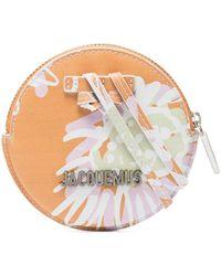 Jacquemus Le Pitchou Buidel Met Bloemenprint - Oranje