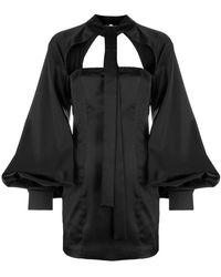 Attico - Vestito corto con dettaglio cut out - Lyst