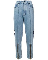House of Holland - Cutout Utility Jeans - Lyst