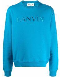 Lanvin ロゴ セーター - ブルー