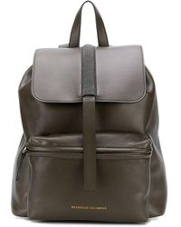 Brunello Cucinelli Bead Embroidered Backpack - Green