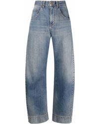 Victoria Beckham Vaqueros de talle alto anchos - Azul