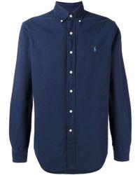 Polo Ralph Lauren Embroidered logo button-down shirt - Blu