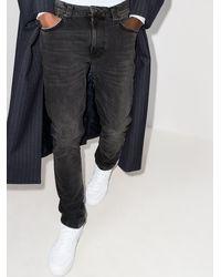 Nudie Jeans Укороченные Джинсы Lean Dean Mono - Черный