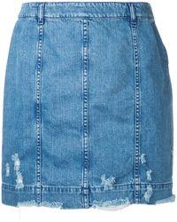 Public School Gil Edgar Denim Skirt - Blue