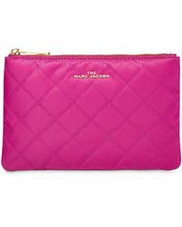 Marc Jacobs Diamond Quilted Make-up Bag - Pink