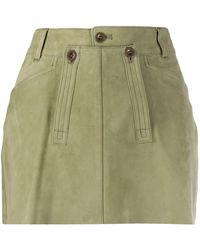 Faith Connexion Lambskin Mini Skirt - Green