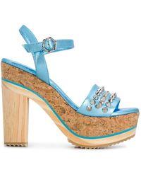 Philipp Plein - Spike-studded Platform Sandals - Lyst