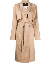 COACH Minimal Belted Trench Coat - Natural