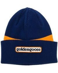 Golden Goose Deluxe Brand - Logo Colour-block Beanie Hat - Lyst