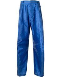 Walter Van Beirendonck Wonderlik exaggerated Pants - Blue