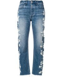 3x1 - High Rise Cropped Jeans - Lyst