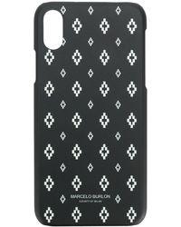 Marcelo Burlon Cross Iphone X ケース - ブラック