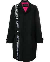 DSquared² - Side Logo Coat - Lyst