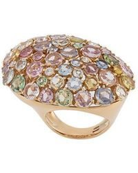 Gavello - 18kt Rose Gold Rainbow Sapphire Ring - Lyst