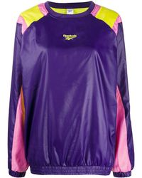 Reebok Sweatshirt in Colour-Block-Optik - Lila