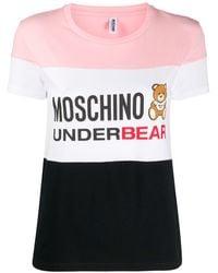 Moschino T-shirt Underbear à logo imprimé - Rose