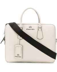 Church's St James Leather Laptop Bag - White