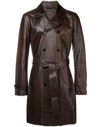 DESA NINETEENSEVENTYTWO Double Breasted Coat - Brown