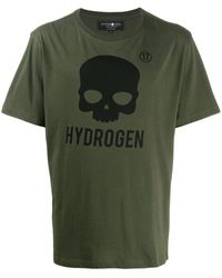 Hydrogen スカル Tシャツ - グリーン