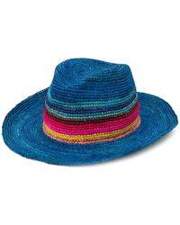 Paul Smith Striped Wide-brim Hat - Blue