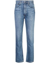 Reformation Jeans Stevie a vita alta - Blu