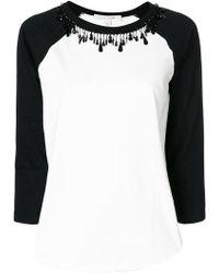Marc Jacobs T-shirt decorata con perline - Bianco