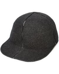 Issey Miyake Slit cap - Noir