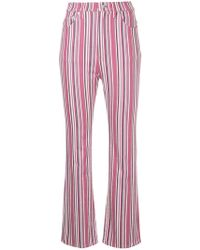 Hysteric Glamour - Stripe Cropped Flared Trousers - Lyst