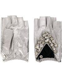 Karl Lagerfeld Vingerloze Handschoenen - Metallic