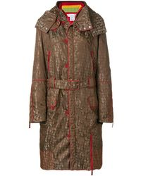 Dior Длинное Пальто С Капюшоном - Многоцветный