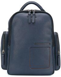Ermenegildo Zegna Blazer Zenith Leather Backpack - Multicolour