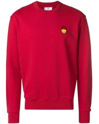 AMI Smiley Patch Sweatshirt - Red