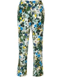 Erdem - Floral Print Cropped Trousers - Lyst