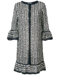 Charlott Long Knit Coat - Blue
