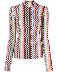 M Missoni ジグザグプリント Tシャツ - マルチカラー