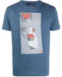 Lardini グラフィック Tシャツ - ブルー