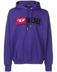 DIESEL - Logo Embroidered Hoodie - Lyst