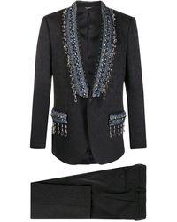 Dolce & Gabbana フローラル ジャカードスーツ - ブラック