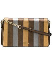 Twin Set - Striped Shoulder Bag - Lyst