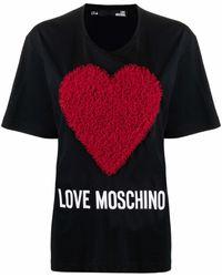 Love Moschino ロゴ Tシャツ - ブラック