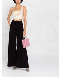 Versace Jeans Couture クロップド タンクトップ - マルチカラー